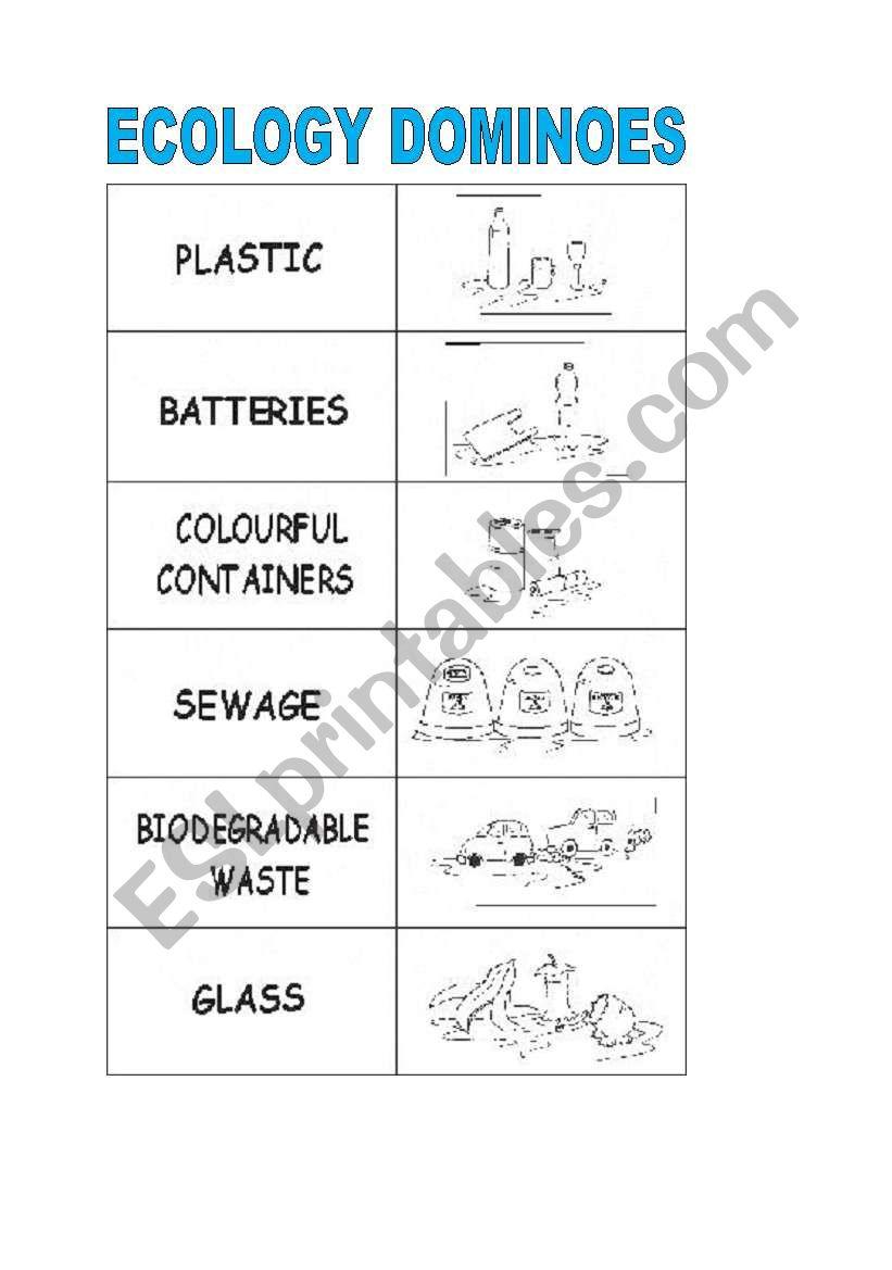 ecology dominoes worksheet