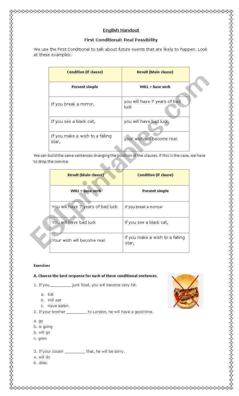Conditional Type 1 worksheet
