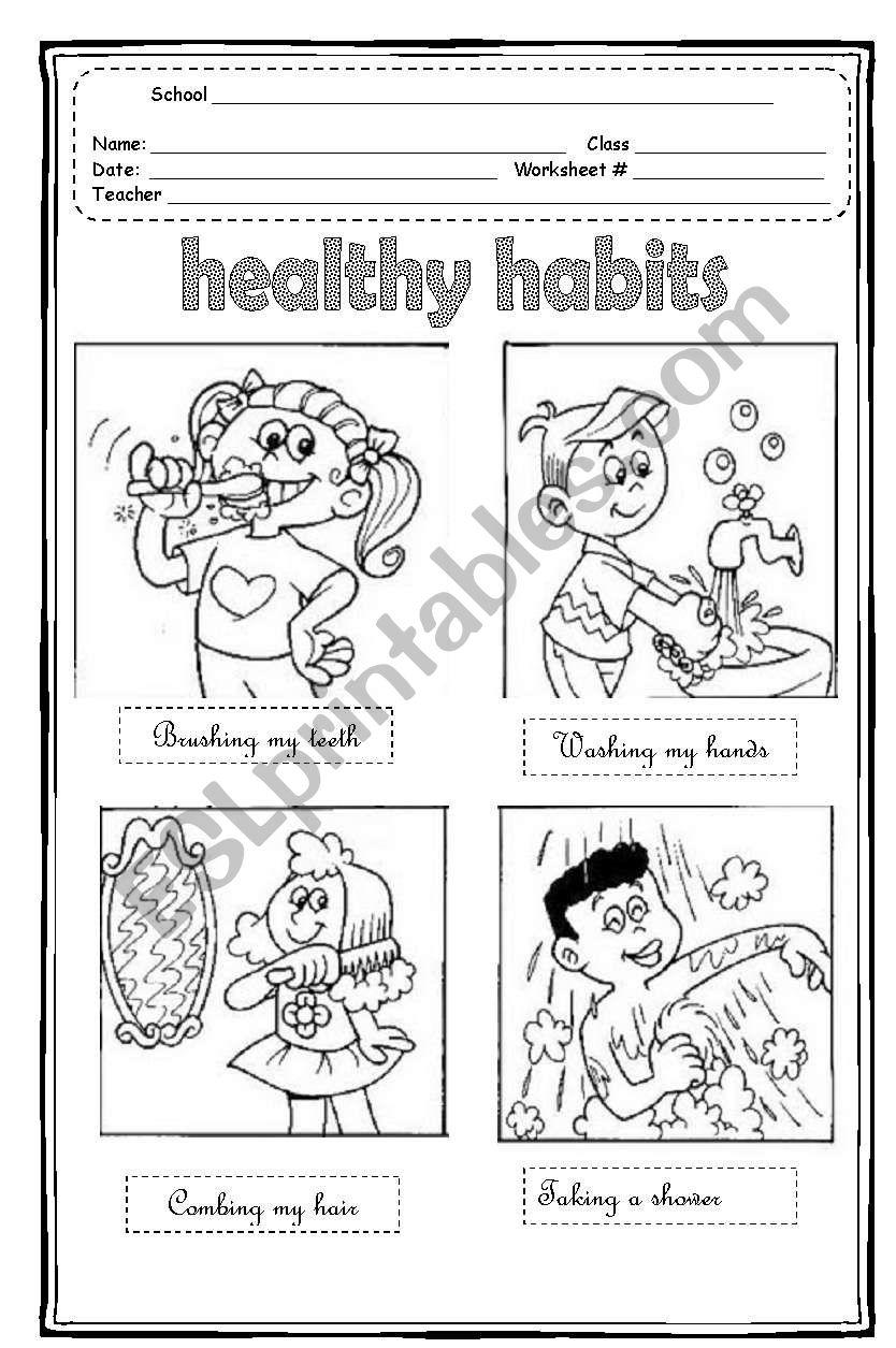 Healthy Habits  worksheet