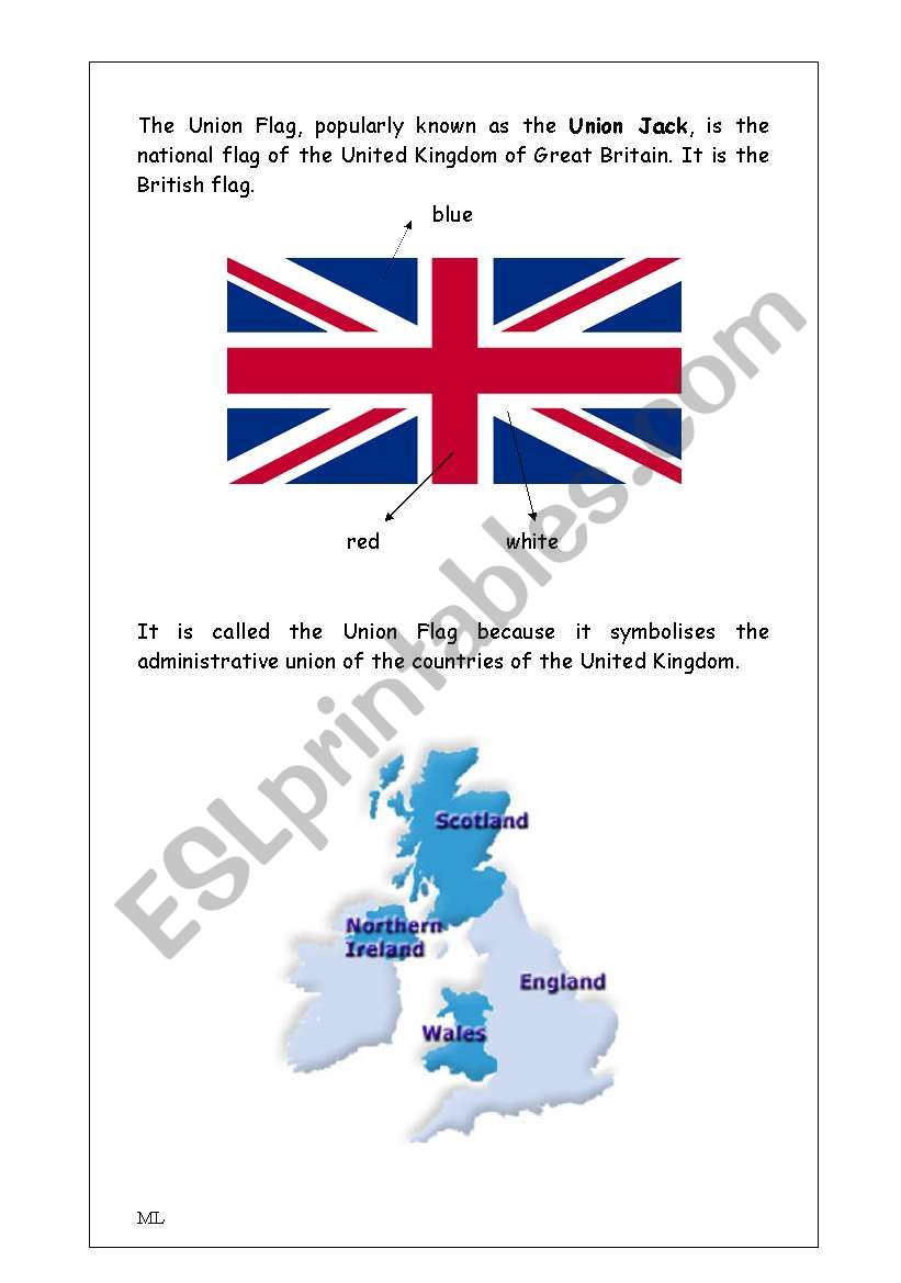 Union Jack reading (British Culture/Citizenship)