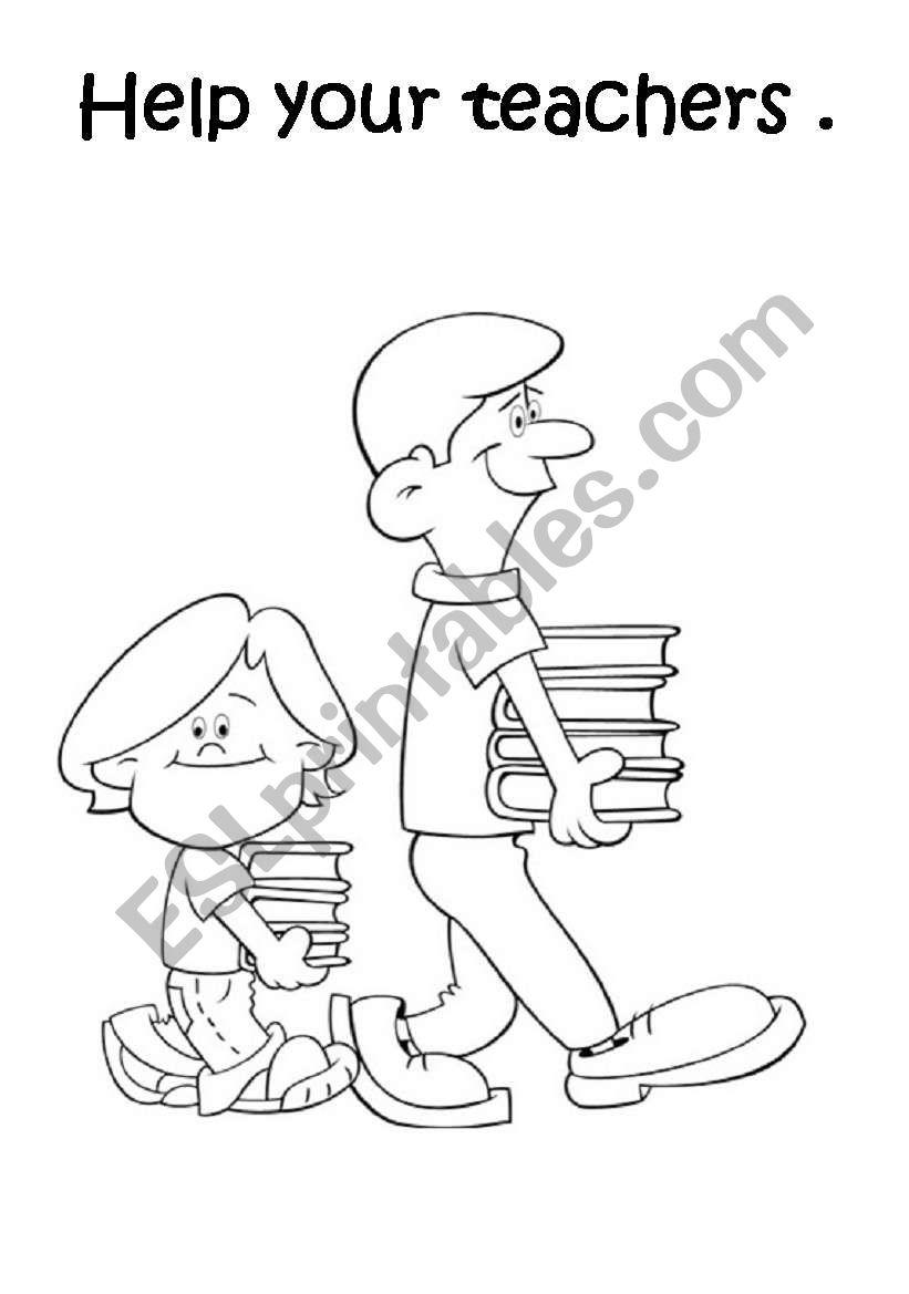 SCHOOL RULES set 1/5 worksheet