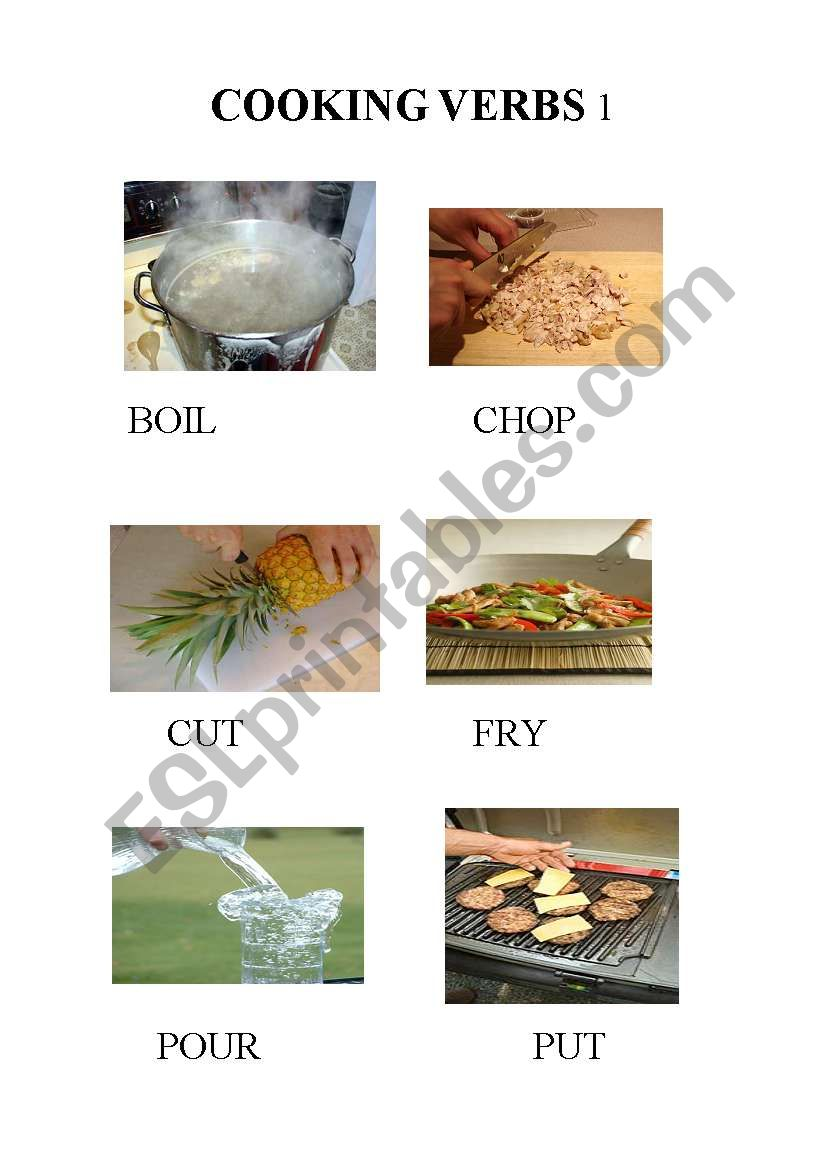 COOKING VERBS part1 -food  / recipes / imperatives