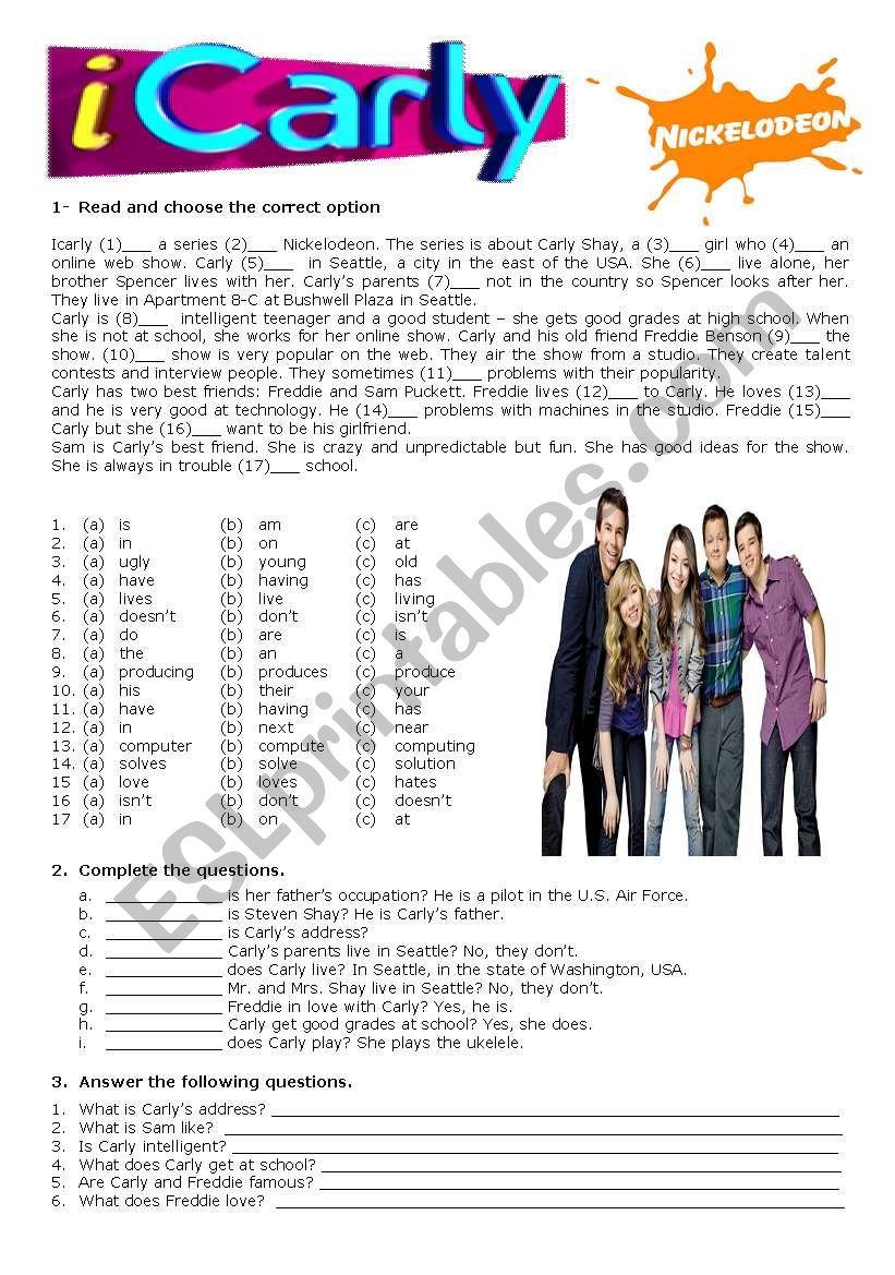 iCarly - ESL worksheet by Cris M