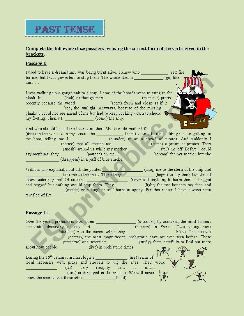 Past Tense worksheet