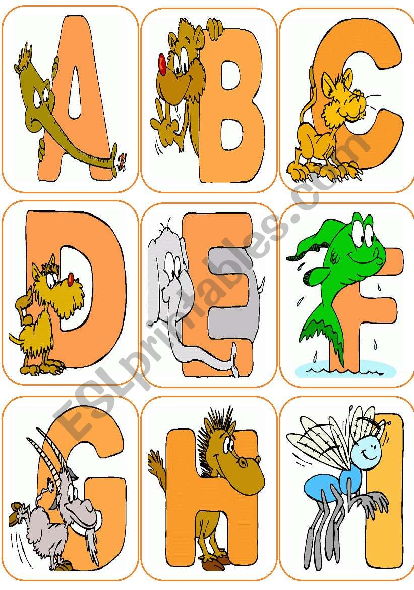 Alphabet Flash-cards worksheet
