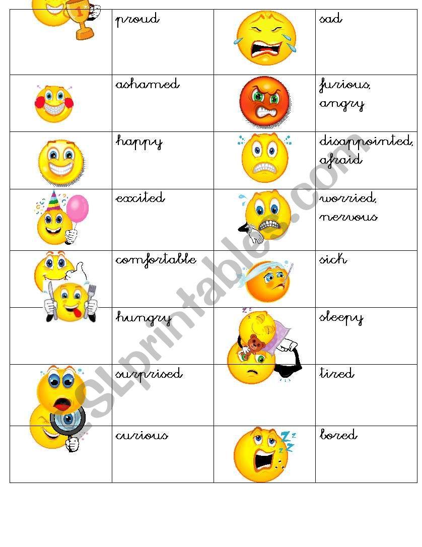 How do you feel- Smiles worksheet