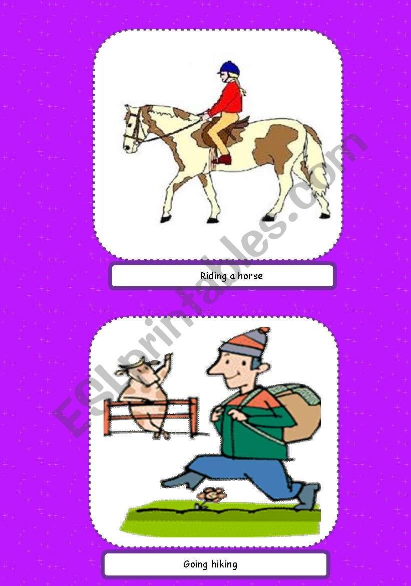 Summer Activities Flashcards 2 Esl Worksheet By Ivolga