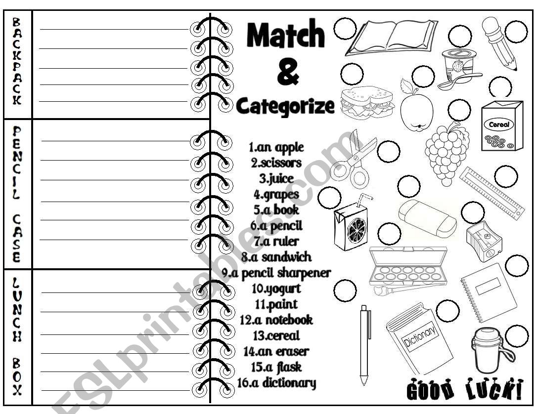 Back to School (activity sheet) - ESL worksheet by Lucia13