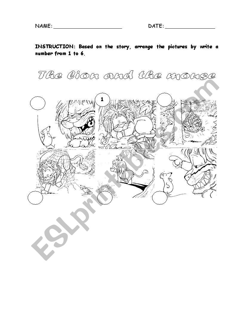 Worksheets  English worksheets: the lion and th