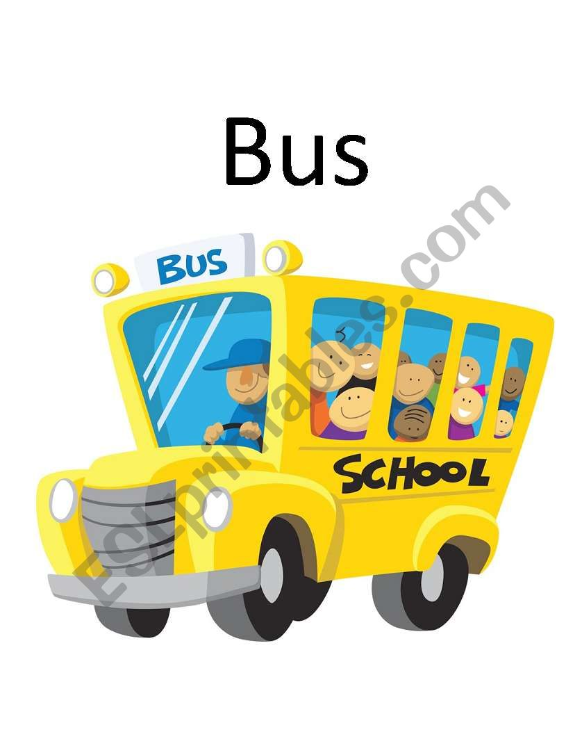 Transports flashcards worksheet