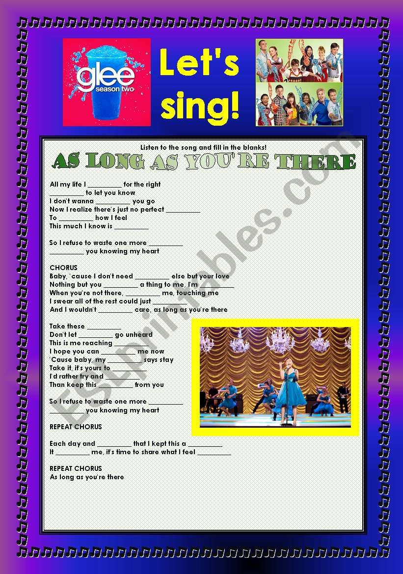> Glee Series: Season 2! > Songs For Class! S02E22 ***** SEASON FINALE ***** *.* Three Songs *.* Fully Editable With Key! *.* Part 3/3