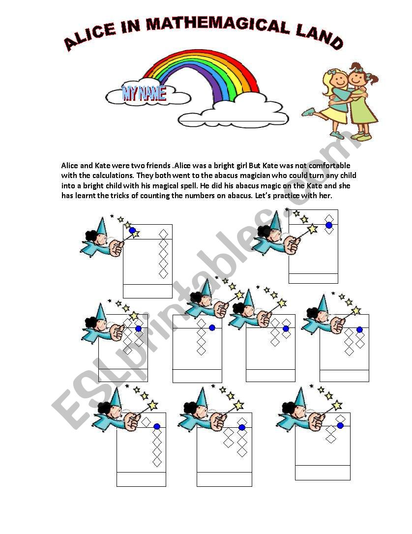 Abacus Worksheet - ESL worksheet by rashmichandra86
