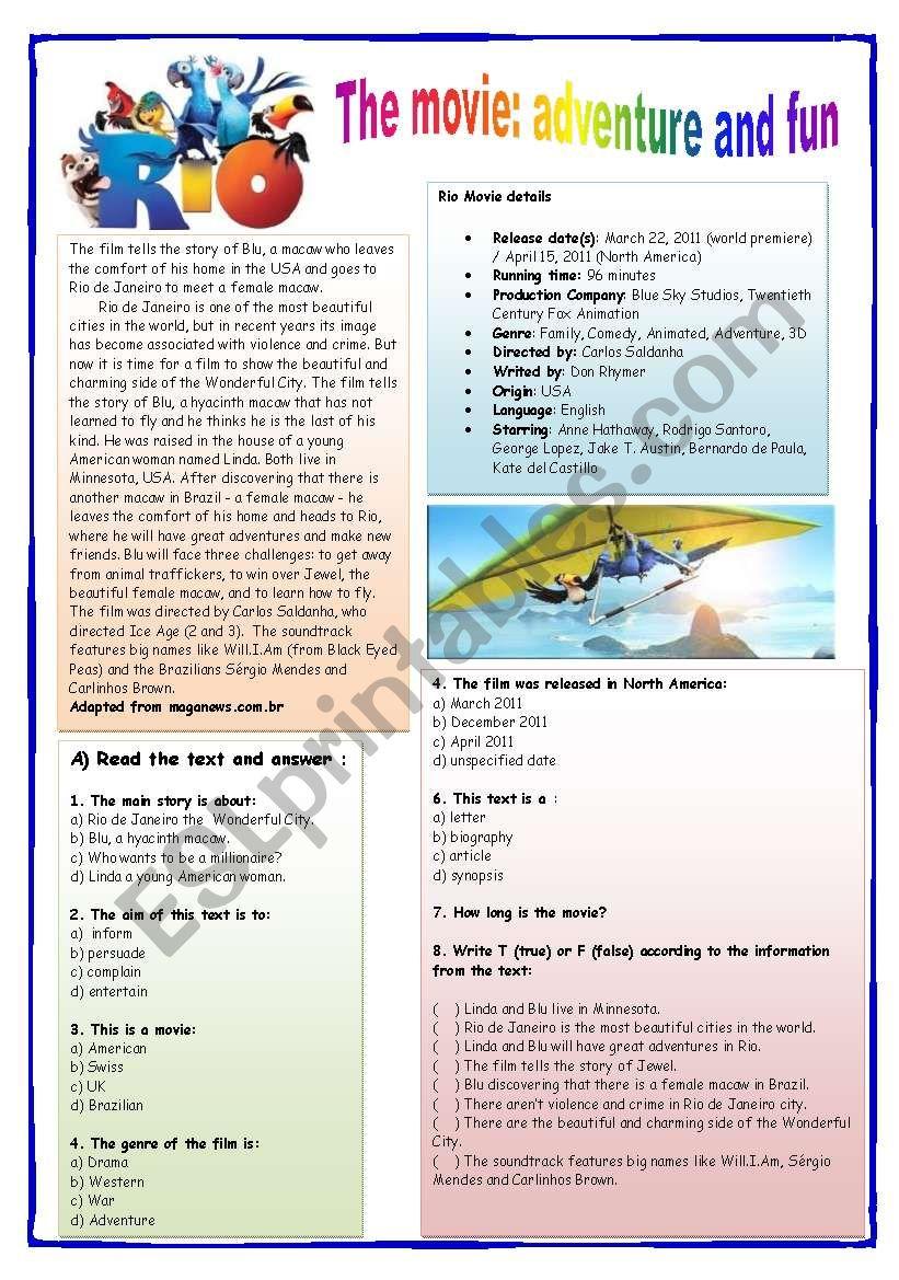 Rio the Movie: adventure and fun
