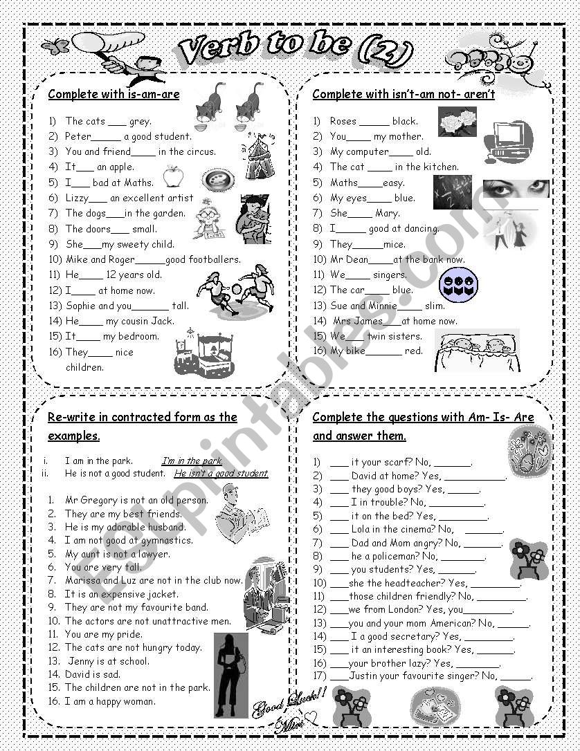 Verb to be (2) worksheet