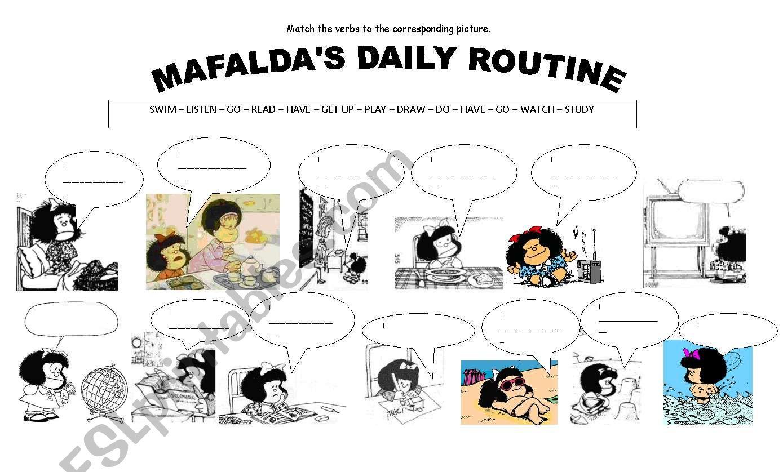 Mafalda´s Daily Routine worksheet