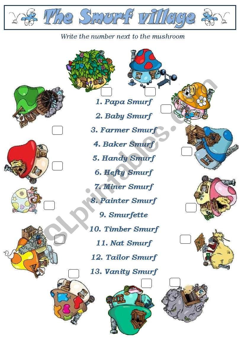 Smurfs2 (Smurf Village) - 3pages