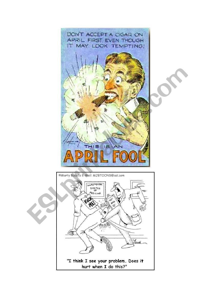 April Fool´s Day worksheet