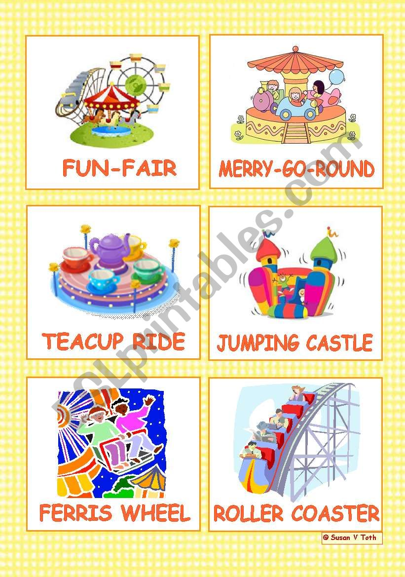 At the fun-fair - 12 Flashcards  - part 1