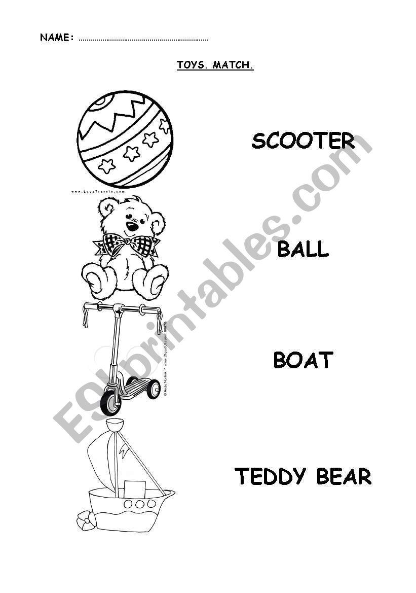 Toys worksheet