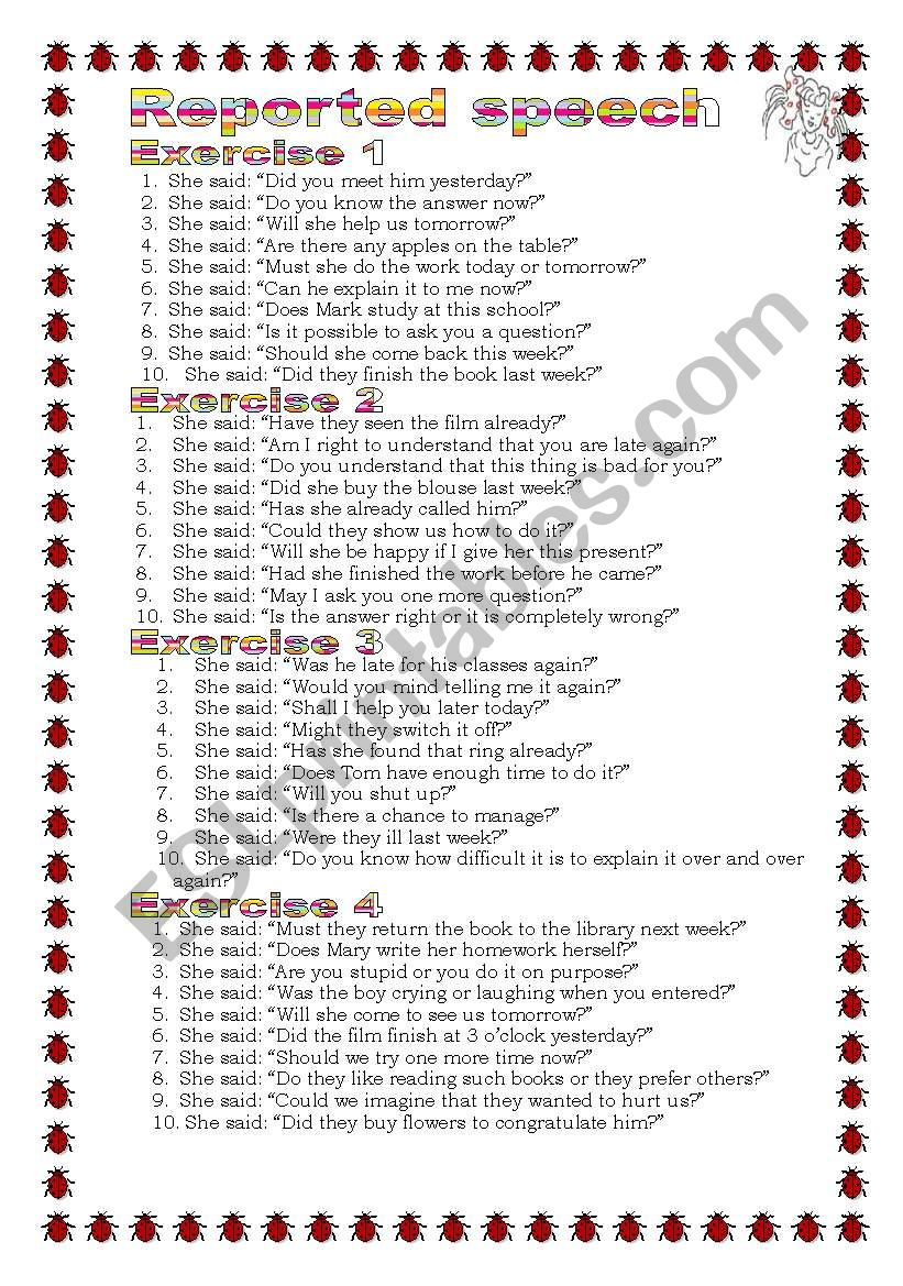 Grammar from A to Z Reported Speech (Questions)  (15-25)