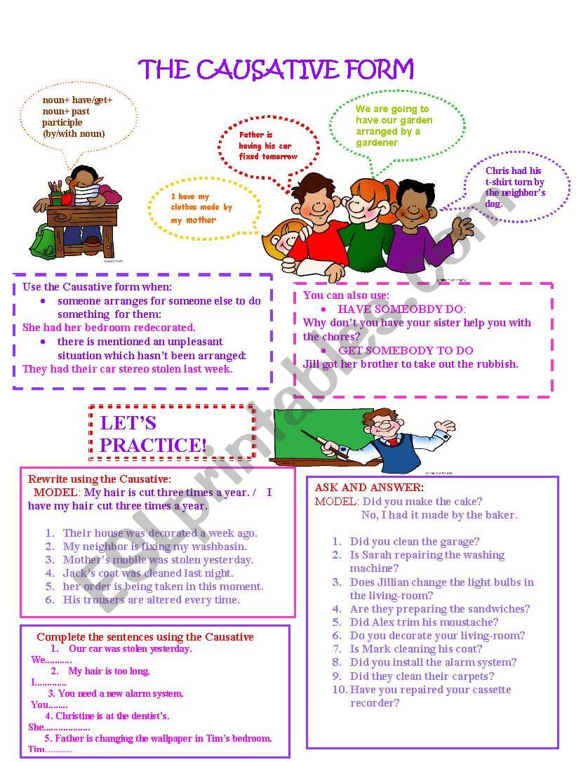 The Causative Form worksheet