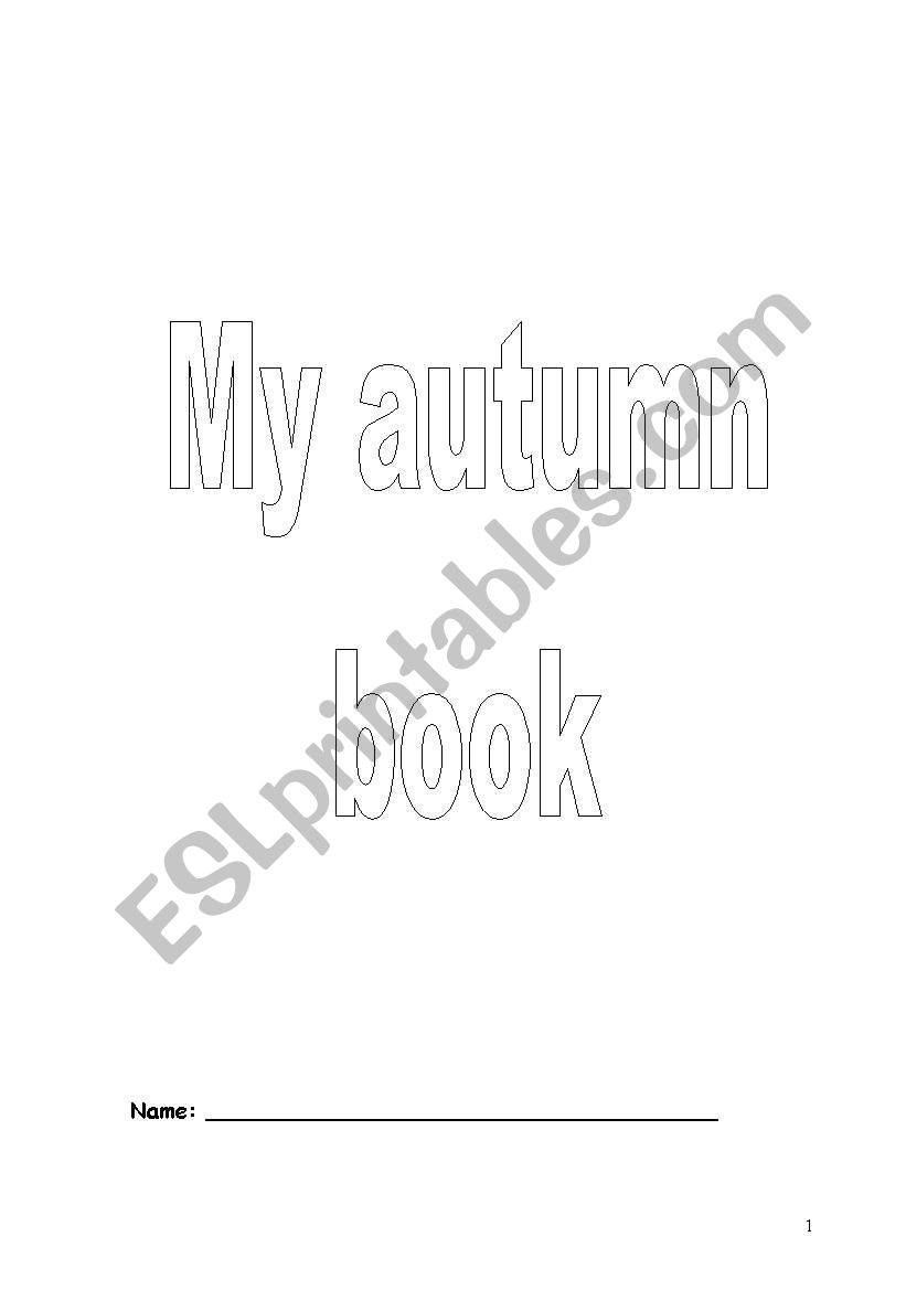 MY AUTUMN BOOK worksheet