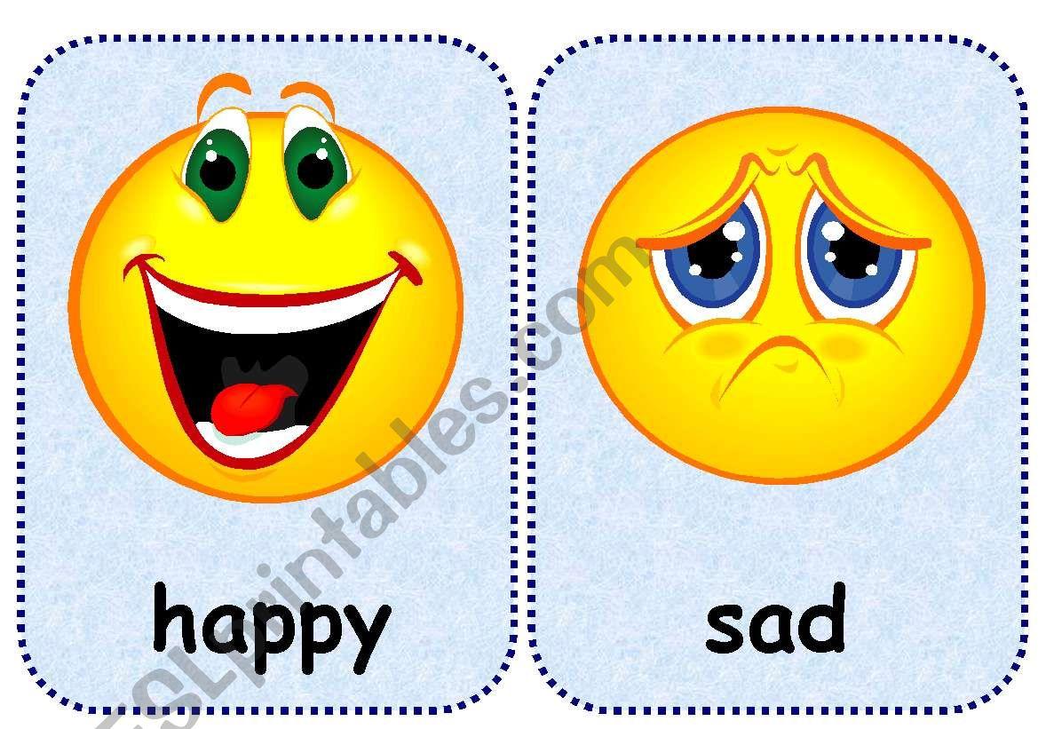 feelings flashcards esl worksheet by esti1975