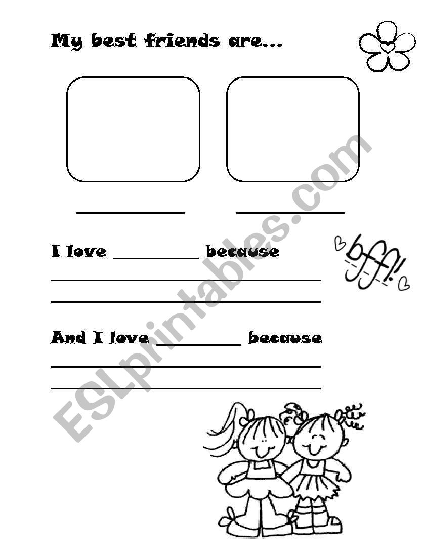 Best Friends - ESL worksheet by May Magdy