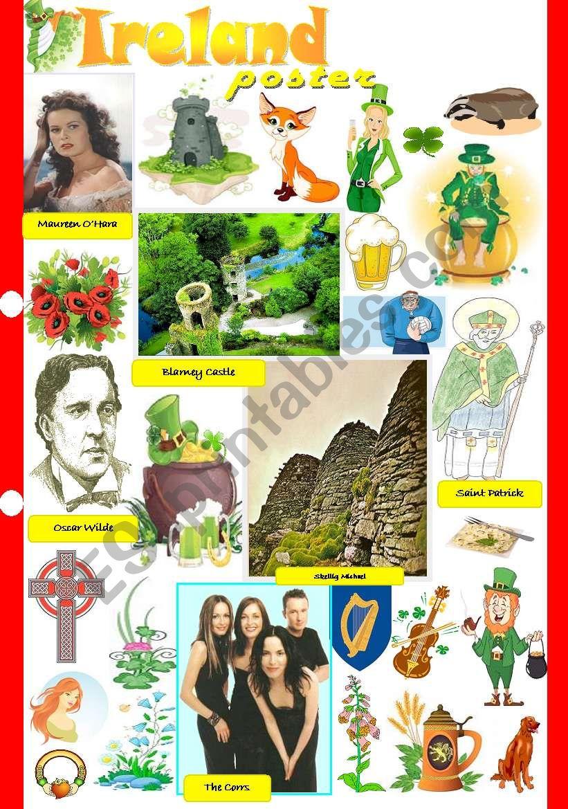 Ireland poster worksheet
