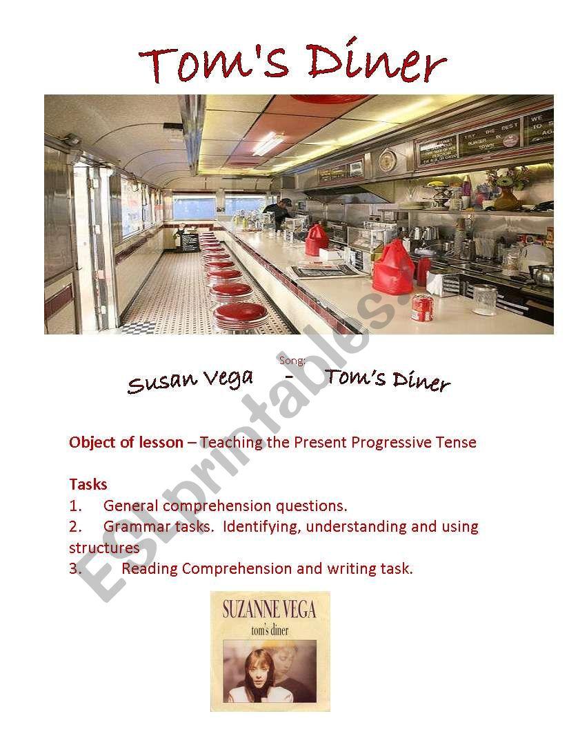 Toms Diner worksheet