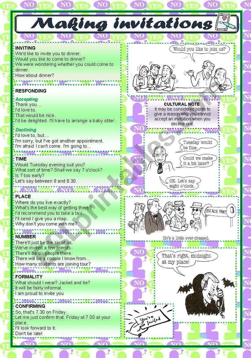 talking about - MAKING INVITATIONS