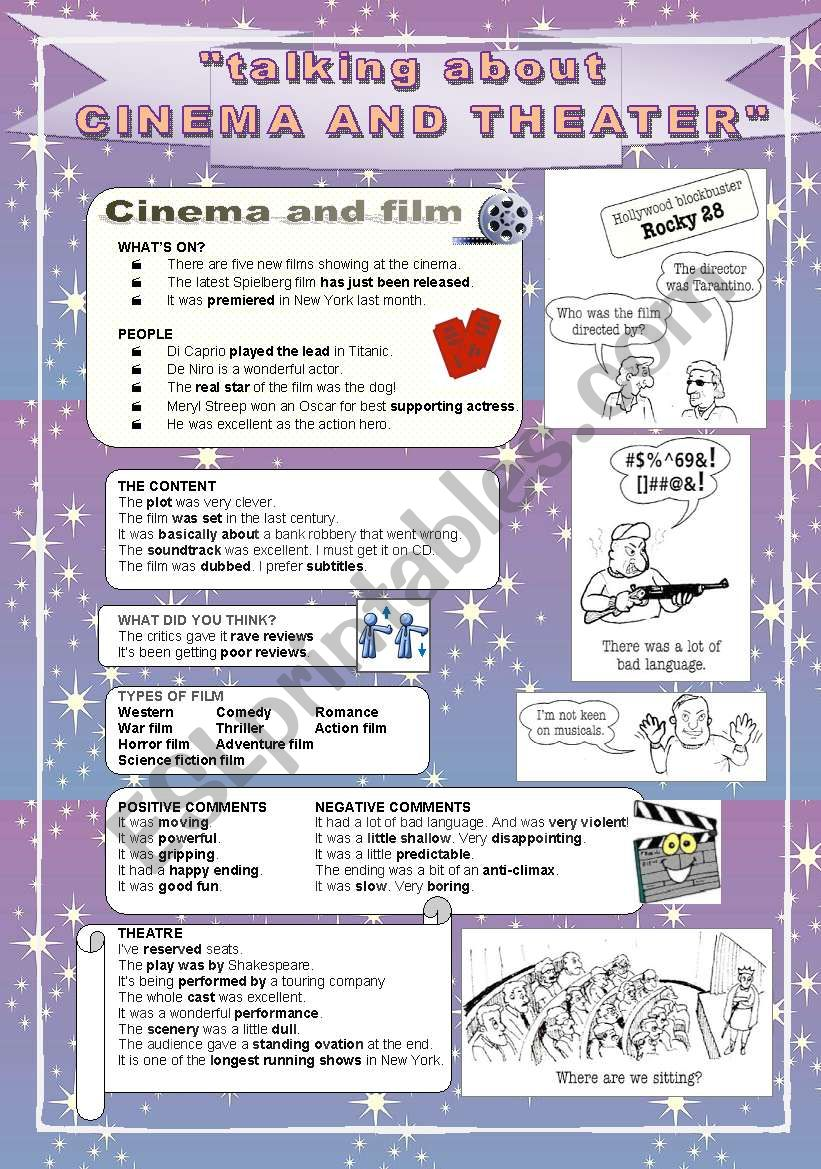 talking about - CINEMA and THEATER