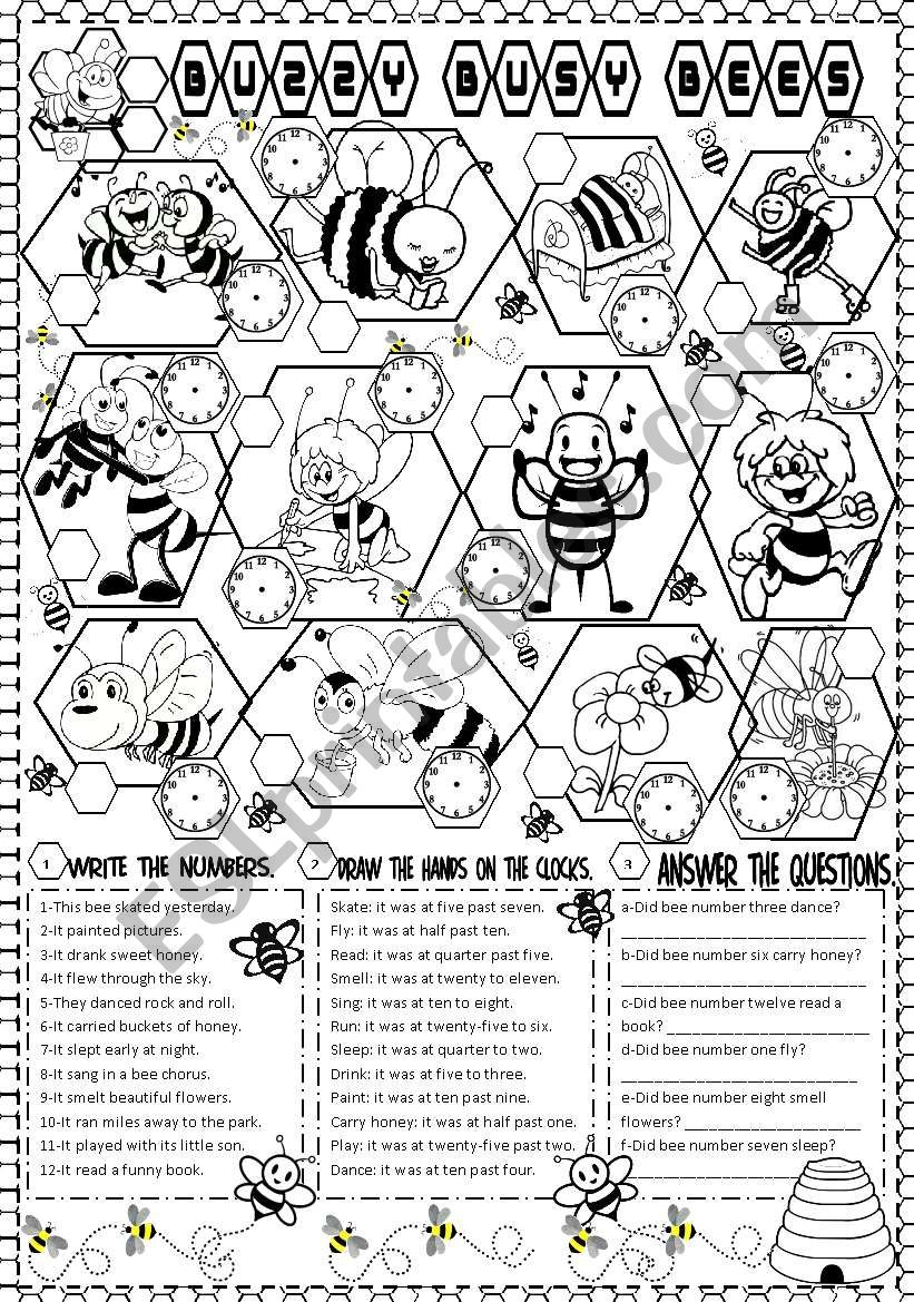 buzzy busy bees worksheet
