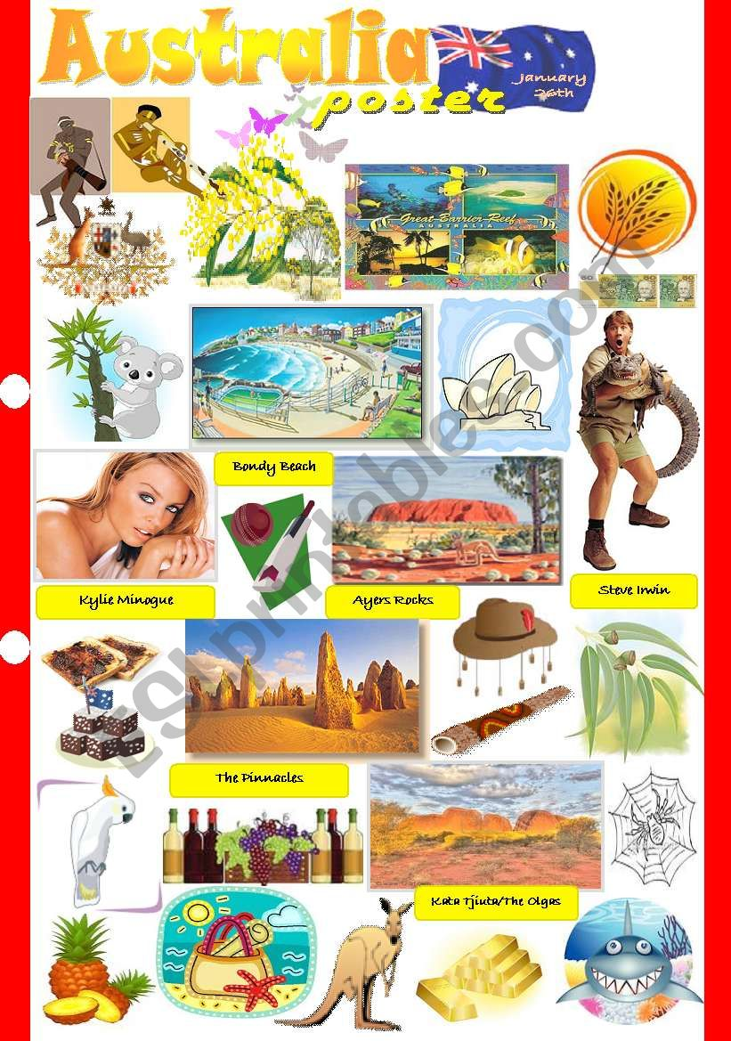 Australia poster worksheet