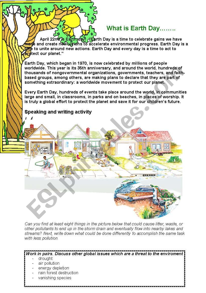 What is Earth Day worksheet