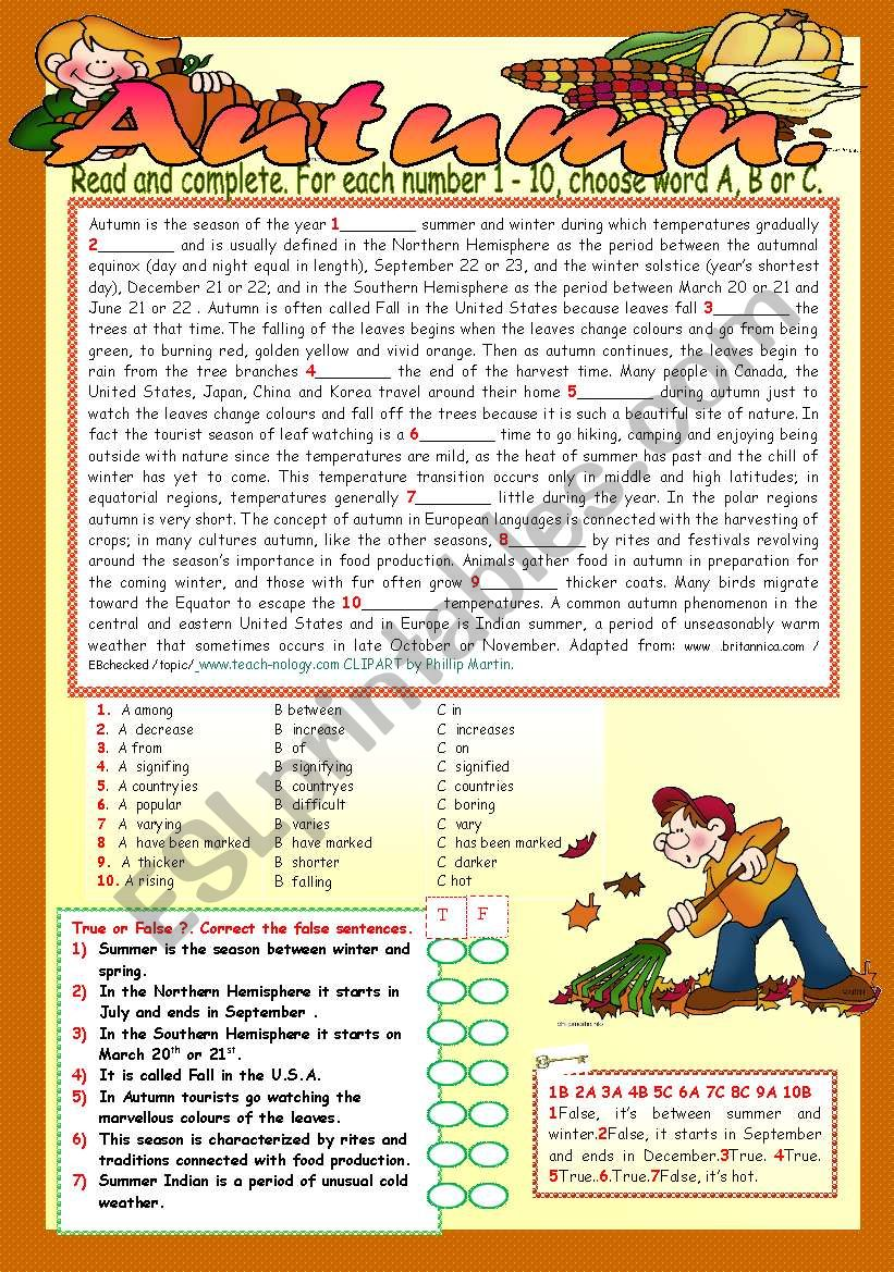 AUTUMN. worksheet