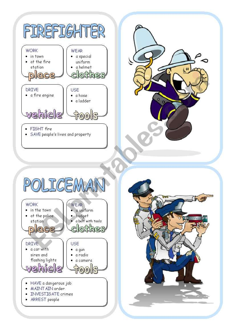 Job Cards - Set 1 worksheet
