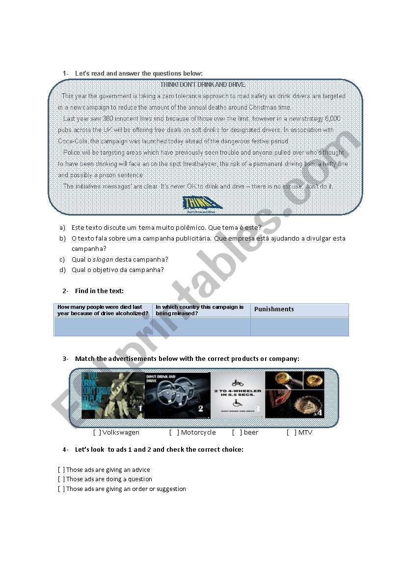 Reading class   worksheet