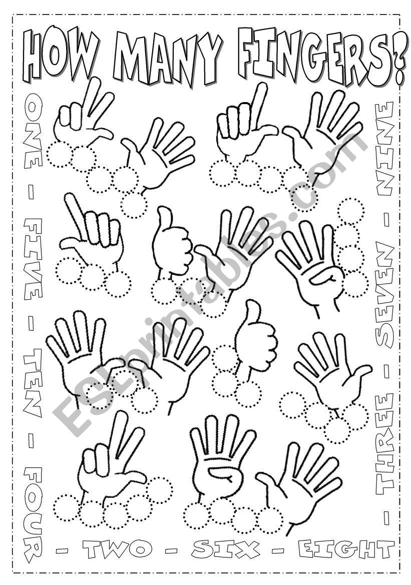 Numbers from 1 to 10 worksheet