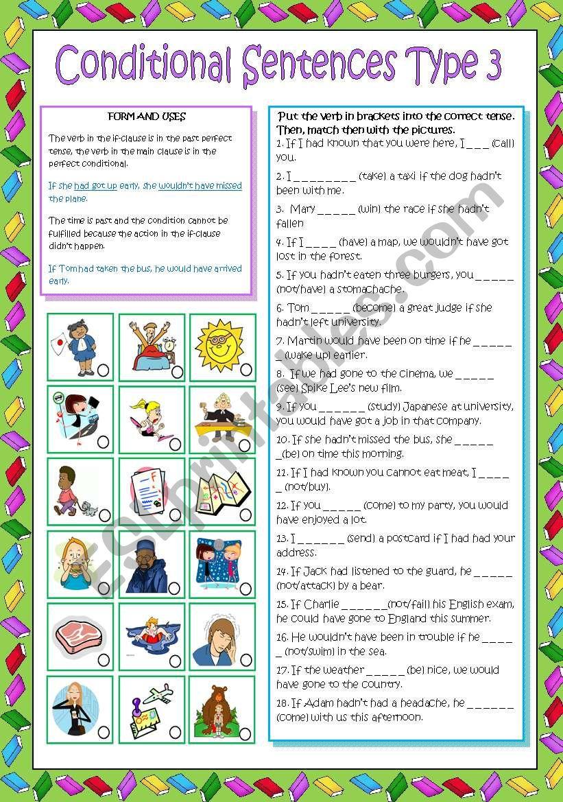 Conditional Sentences type 3 worksheet