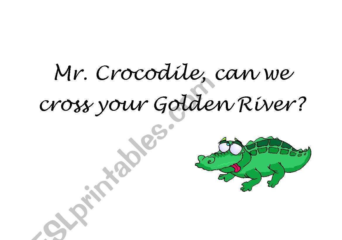 Mr. crocodile game worksheet