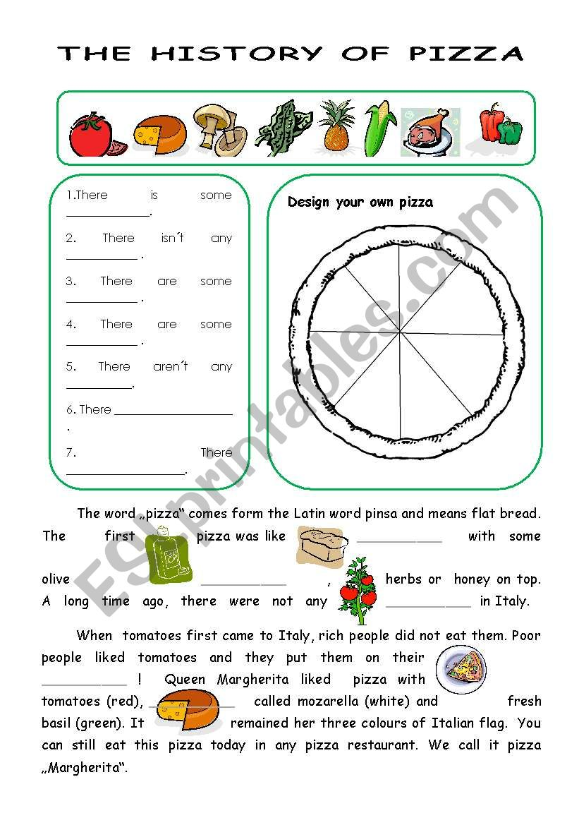 The history of pizza worksheet
