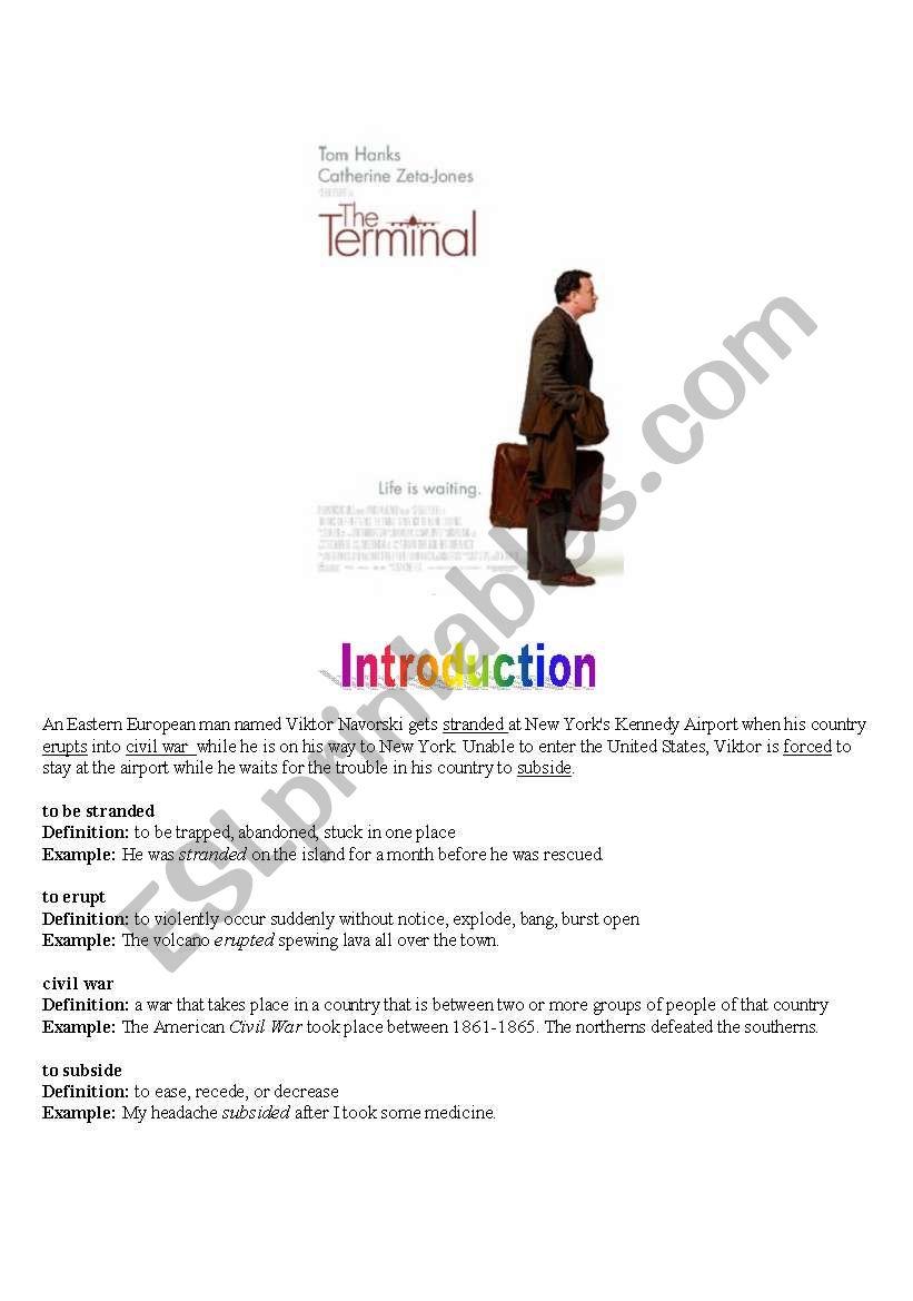 Movie Trailer - The terminal (Tom Hanks)
