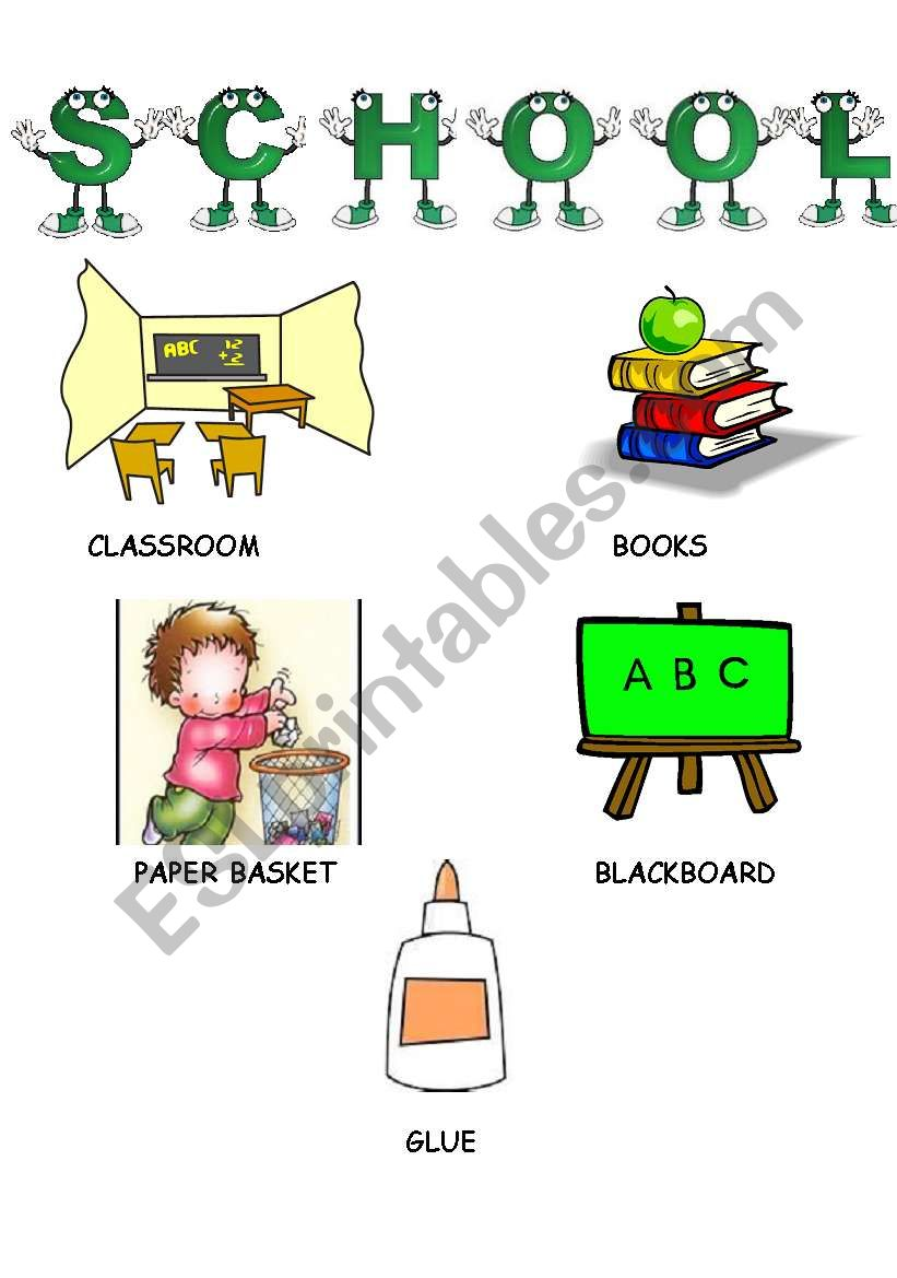 LET´S GO TO SCHOOL-3 worksheet