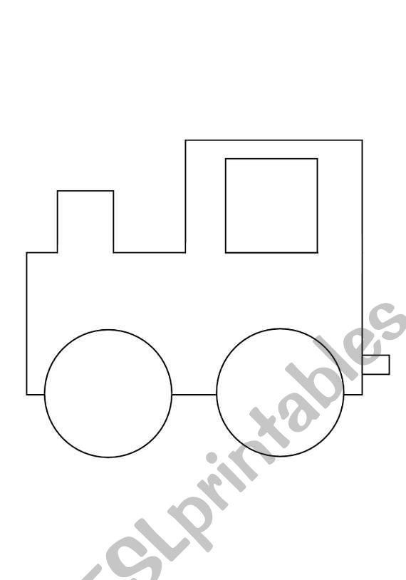 Months train worksheet