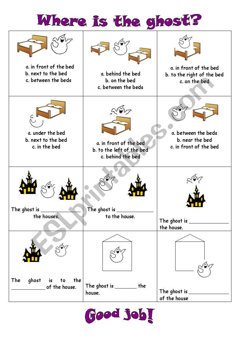Where is the ghost? worksheet