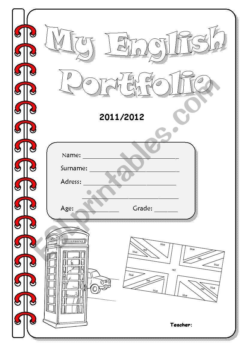 English Portfolio Cover - 2nd Version