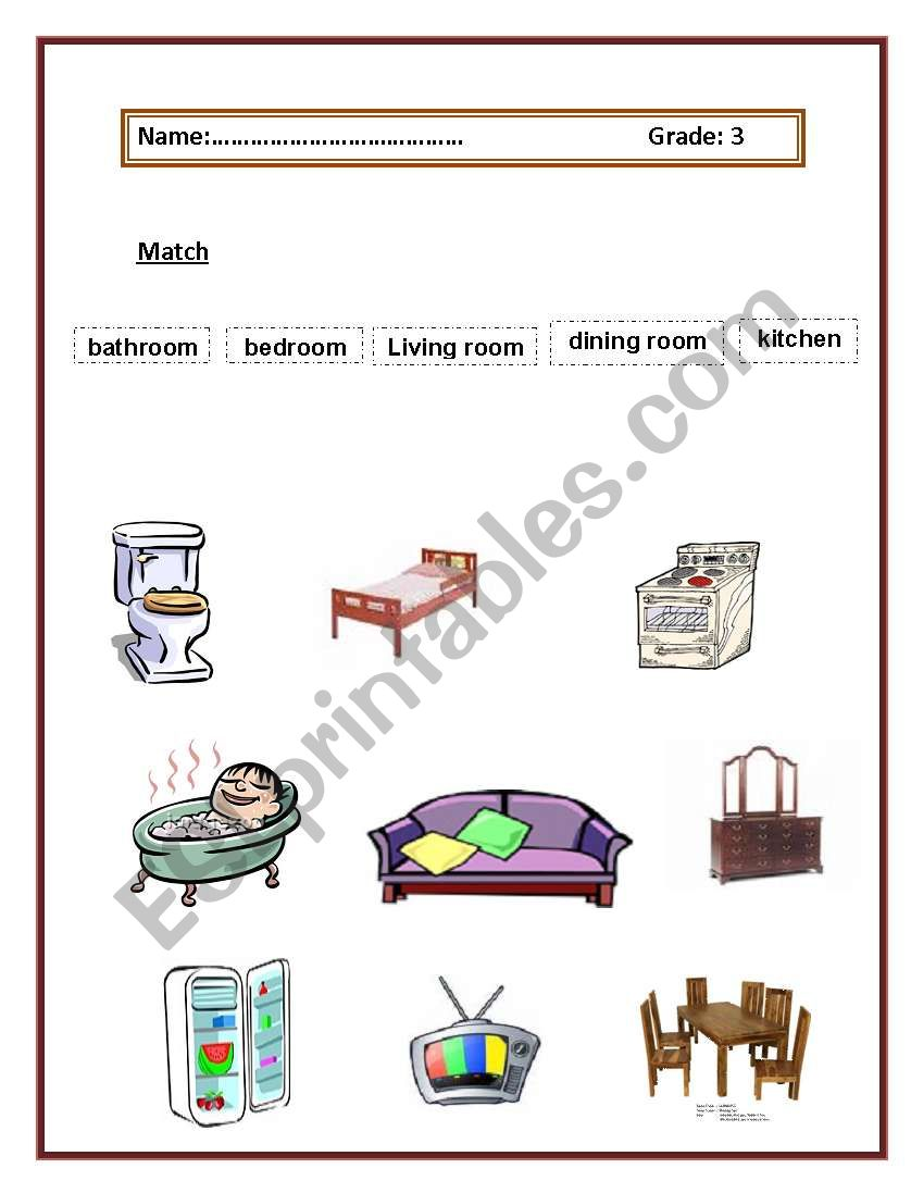 what is inside our house? worksheet