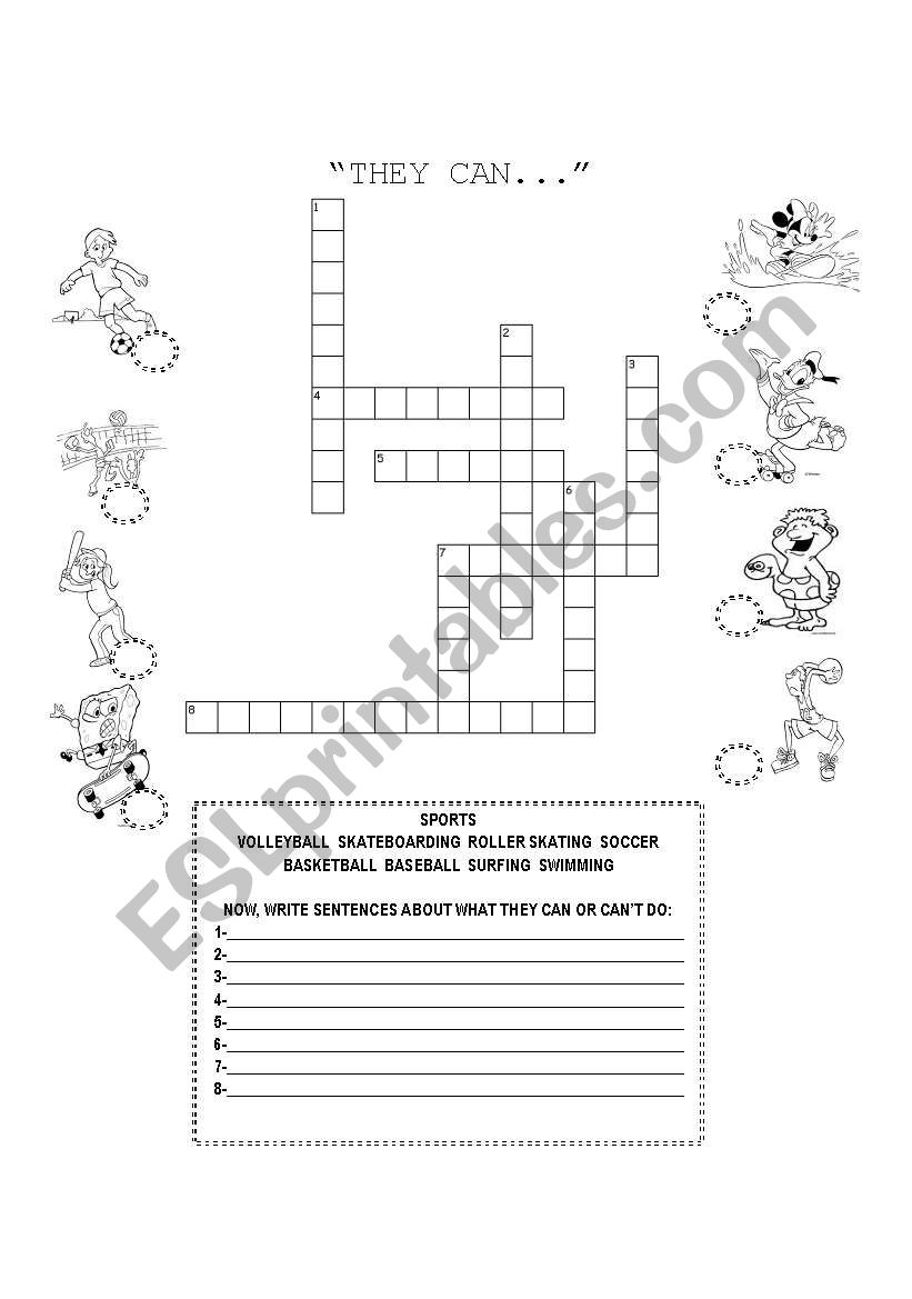 WHAT THEY CAN DO? worksheet