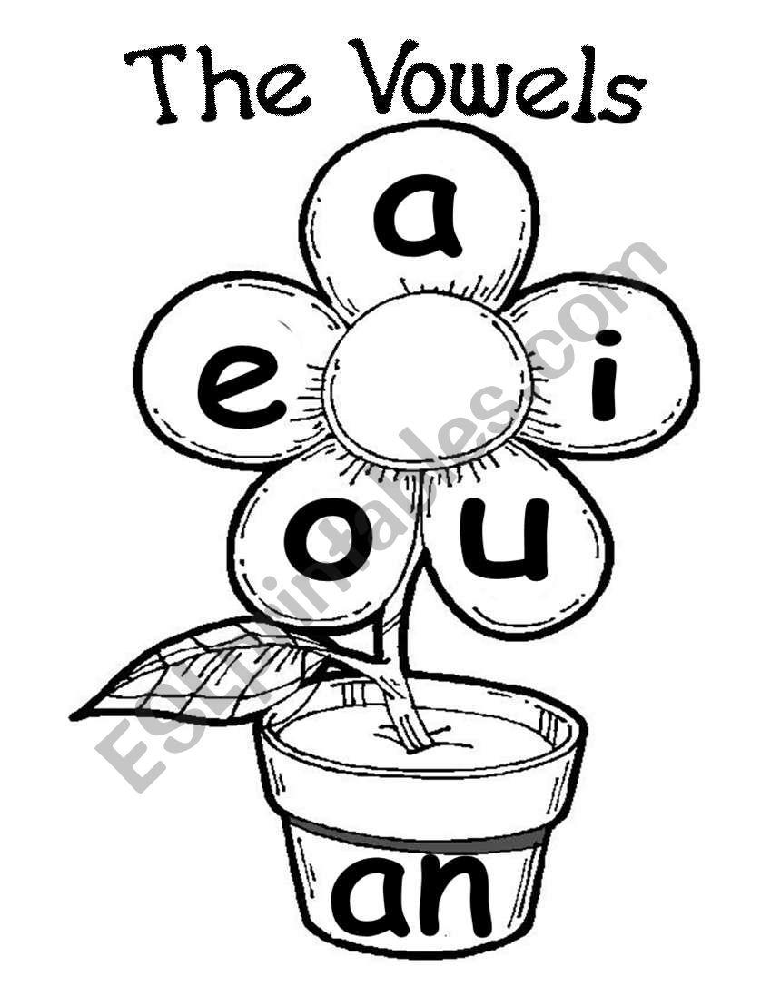 the 5 vowels - ESL worksheet by ms.amira